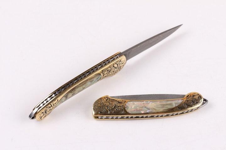 Uus stiil Käepideme korpus Puhas käsitsi Damaskuse nuga Mustriga - Käsitööriistad - Foto 4