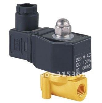 """5 шт. 2 способ электромагнитный Пневматический воздушный клапан латунь 3/"""" 220 В AC DIN катушка"""