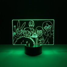 Bobs Burgers Baby Led Nightlight for Kids Bedroom Decorative Lamp Usb Night light Dropshipping 2019 Cool Child