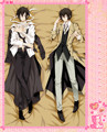 Anime Cartoon Bungou Stray Dogs Double Bolster Hugging Pillow Case Cover No.65077