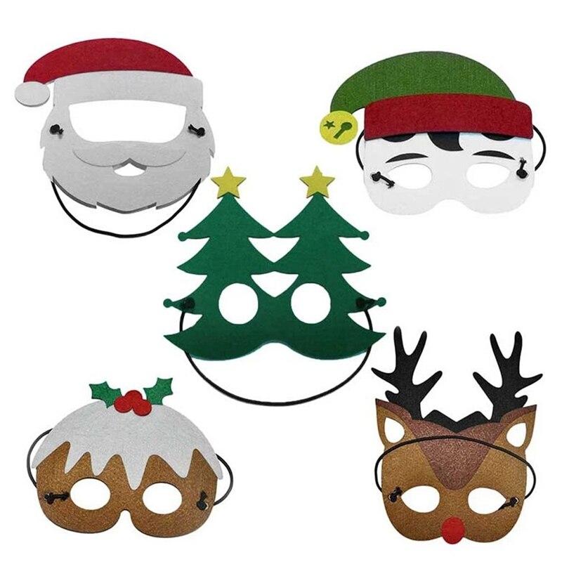 Speciale Kinderen Kostuum Masker Kerstmuts Elf Kerstboom Elanden Sneeuwpop Cartoon Masker Partij Cosplay Speelgoed Voor Kerstcadeaus Puur Wit En Doorschijnend