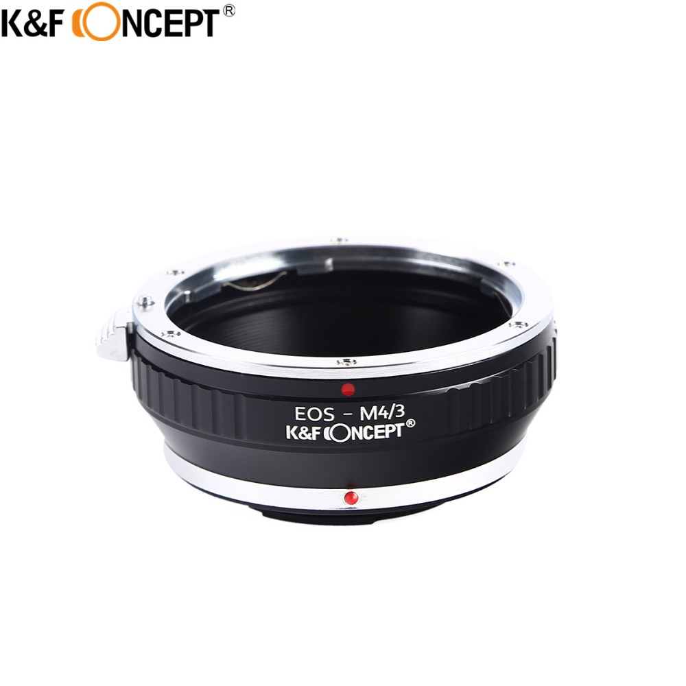 K&F CONCEEPT For EOS-M4/3 Camera Lens Adapter Ring For Canon EOS EF Mount Lens to Micro 4/3 Olympus E-P1/P2/PL1 Panasonic G1/G2 недорго, оригинальная цена