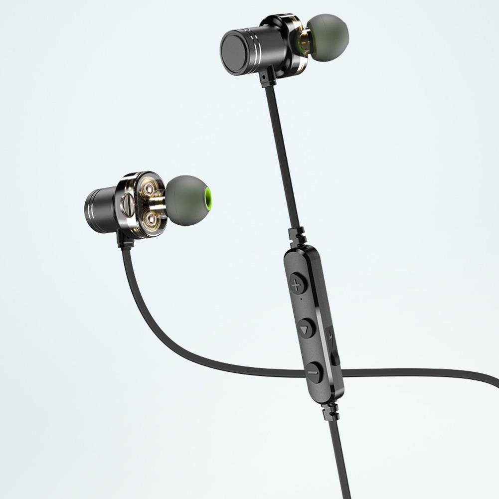 AWEI X670BL Doppio In Movimento Bobine Impermeabili di Sport di Bluetooth Auricolare Mini Del Metallo di Sport Del Telefono Mobile del Trasduttore Auricolare