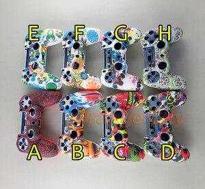 Image 4 - Protetor graffiti silicone gel de borracha luva macia capa para dualshock 4 playstation 4 ps4 pro controlador fino