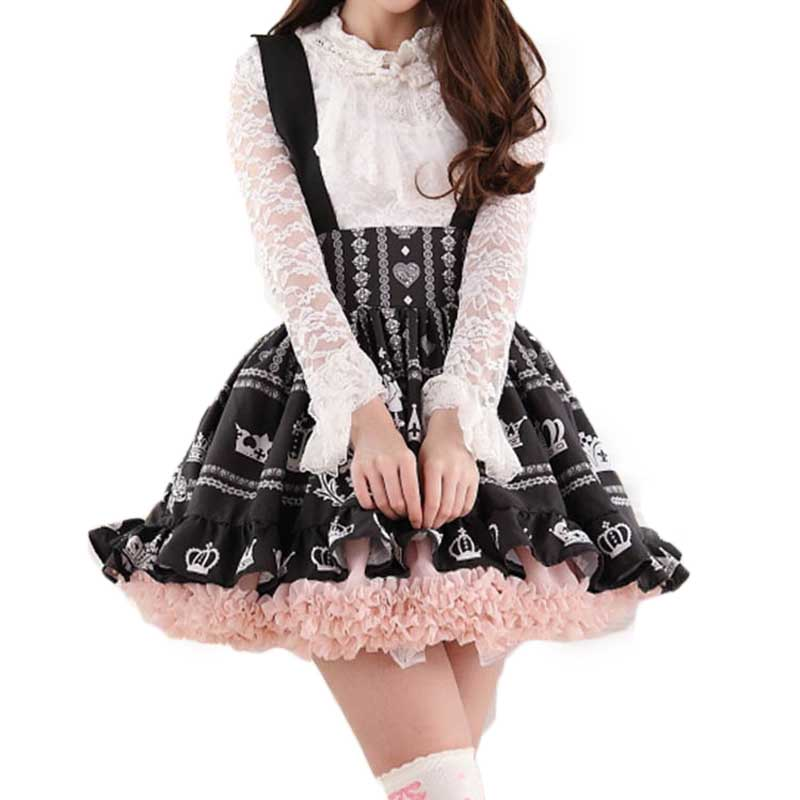 Lolita Cute Mini Skirt School Uniforms Harajuku Japanese Preppy Style Sweet Women Saia Faldas Ladies Jupe