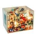 Кукольный Дом Мебель Diy Миниатюрный Пылезащитный Чехол 3D Деревянные Miniaturas Головоломки Кукольный Домик Для Детей День Рождения Подарки Игрушки
