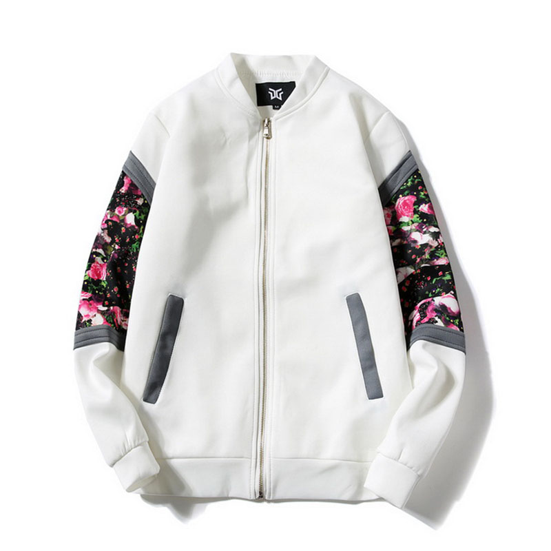 Bomber Jackets Women 2019 Spring Causal Flowers Floral Windbreaker Basic Jackets Ladies Coats Zipper Lightweight Jacket Famale