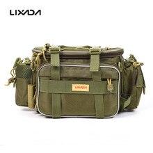 40*15*19cm Canvas Fishing Bag Men Multi-function Waist Shoulder Fishing Tackle Bag Reel Lure Storage Bag Case Carp Fishing Gear