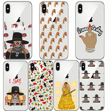 soft silison phone Beyonce Lemonade Hold Up Formation I SLAY Cases Capinha Coque Cover for IPhone 5S 6S 7 8 Plus X  XS MAX XR