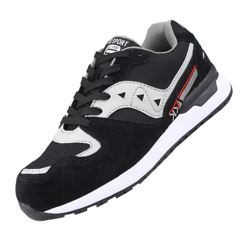 DEWBEST, Мужская защитная обувь со стальным носком, защитная обувь, легкая, 3D ударопрочная, рабочие кроссовки, обувь для мужчин