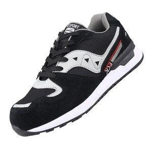 Image 3 - DEWBEST Mens Safety Shoes Steel Toe Construction Protective Footwear Lightweight 3D Shockproof Work Sneaker Shoes For Men