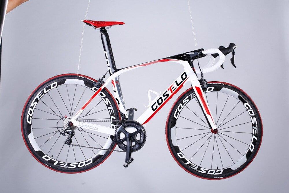 Скидка costelo Ванту углерода дорожный велосипед Полный Дешевые дорожные велосипеды DIY T1000 Bicicleta carbono полный углерода дорожный велосипед