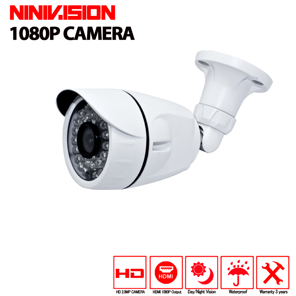 Waterproof Outdoor Indoor Security High Quality CCTV Camera 1080P IR Cut Filter 24 Hour Vision Video Bullet Surveillance Camera high quality cctv camera 800tvl ir cut filter 24 hour day night vision video outdoor waterproof ir bullet surveillance camera