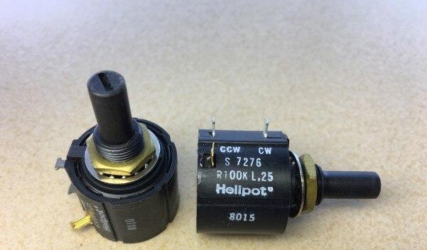 [VK]  Imported American Helipot S7276 R100K BI winding multi-ring Potentiometer 100K switch 1pcs u s imports bi 7276 winding multi turn potentiometer switch r1k 2k 5k 10k 20k 50k 100k