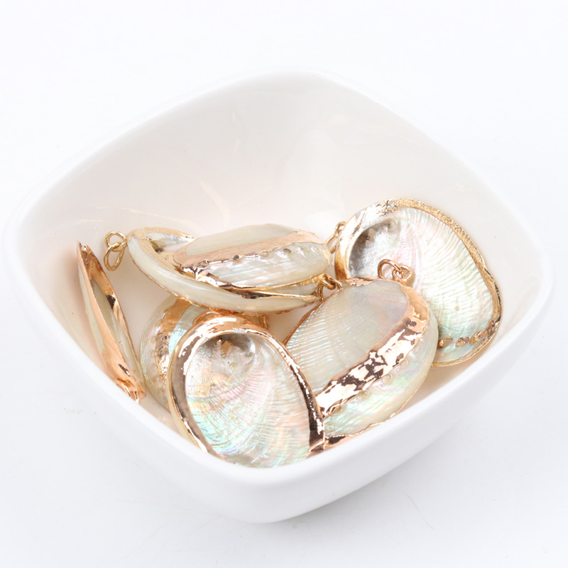 Natural Spiral Shell Gold Plated SeaShells For DIY Handmade Home Decoration Jewelry Making 20-31mm 2pcs