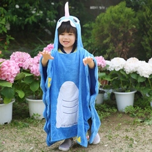 Children Animal Swim Towels 3D Hooded Kids Cotton Beach Blanket Quick Dry Towel Travel Sport Swimming Bath