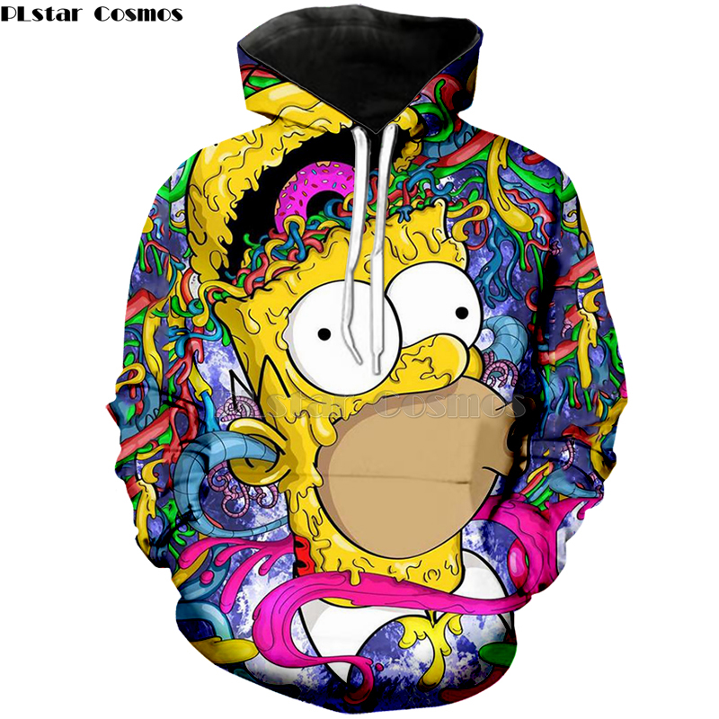 2019 New The Simpson Printed Men Women 3D Hoodies Sweatshirts Quality Hooded Jacket Novelty Streetwear Fashion Casual Pullover-3
