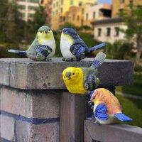 4pcs A Set Simulation Animal Bird Ornaments Home Decoration Accessories Garden Decoration