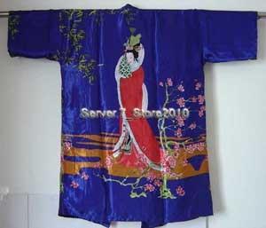 Wholesale And Retail Women's Bathrobe Kaftan Silk Robe Gown Printing belle Sleepwear Kimono Gown Dropshipping M L XL