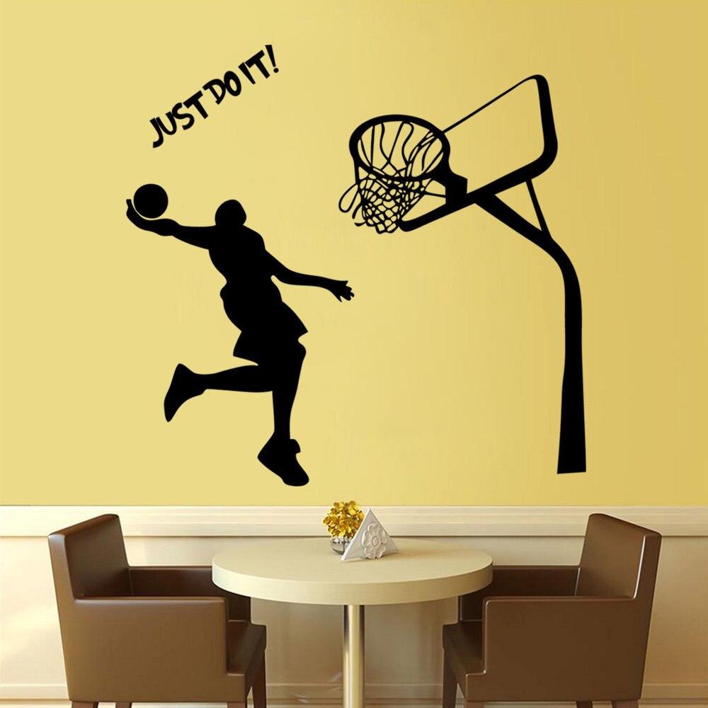Kid\'s Room Wall Decal Just Do It MICHAEL JORDAN DUNK Basketball ...