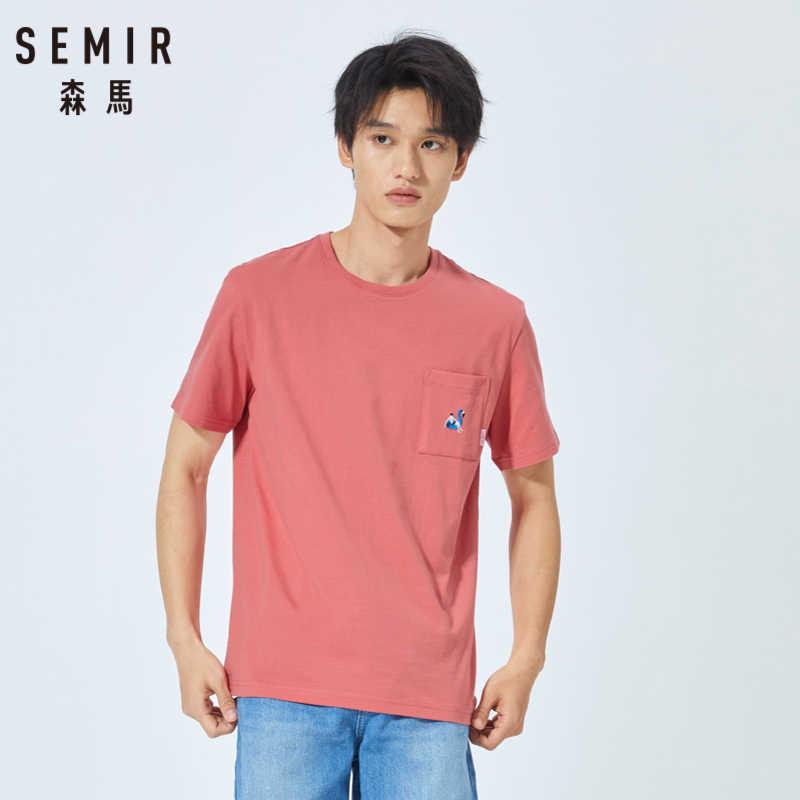 Semir Musim Panas 2019 Putih Slim Lengan Pendek T-shirt Pria Leher Bulat Kapas Bottoming Kaos Semangat Pria Lengan Pendek Pria