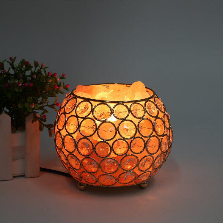 New Magic Round Shape Himalayan Natural Crystal Salt Light Air Purifying Himalayan Healthy Salt Lamp Drop Shipping Sale