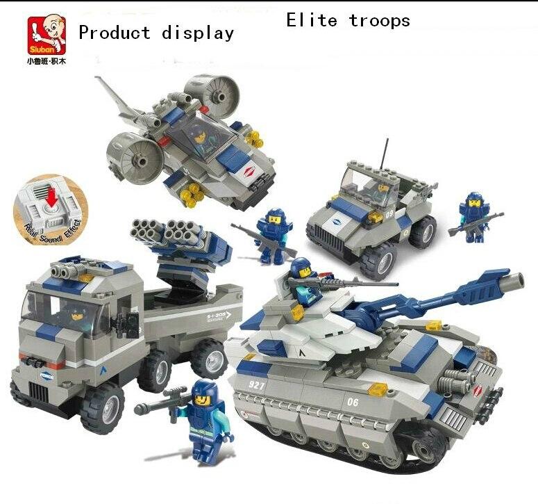 ФОТО Without original box M38-B0210 Sluban Building Block Set 3D Construction Brick Toys Educational Block toy for Children