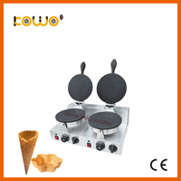 commercial double plate automatic electric non stick ice cream waffle cone making machine for catering equipment