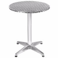 Goplus 23 1 2 Aluminum Stainless Steel Round Table Patio Bar Pub Restaurant Free Shipping OP2796