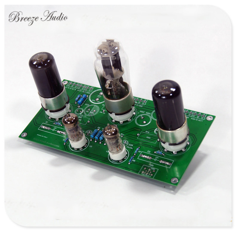 breeze audio 6J1/6AK5 power amplifier board push 6P6P/6V6 single-ended tube 5Z4P bile rectifier power amplifier board