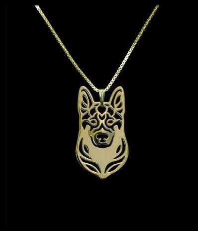 handmade cartoon  German shepherd necklace  fashion pet pendant dog jewelry