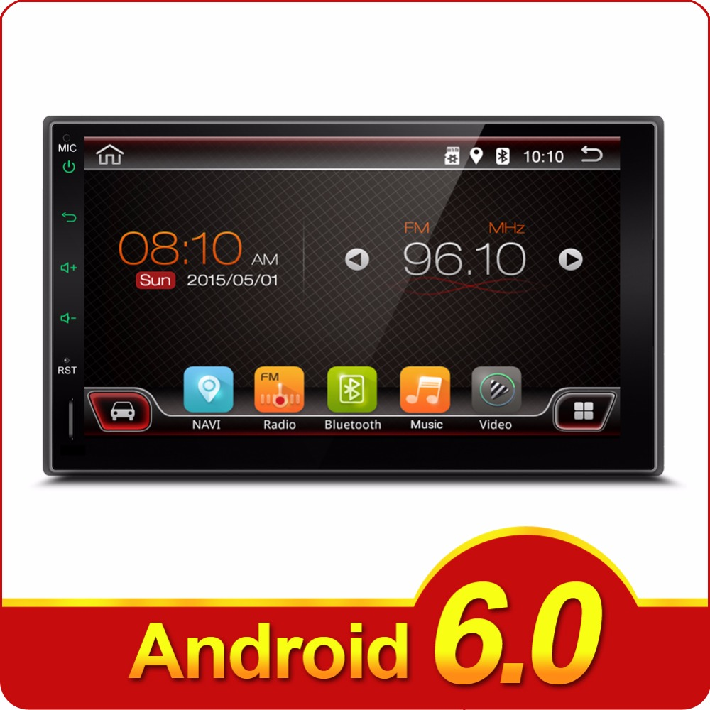 2 Din Android 6.0 Full-Touch Car PC Tablet double Audio 7'' GPS Navi Car Stereo Radio No-DVD mp3 Player Bluetooth iPod vw Stereo автомобильный dvd плеер joyous kd 7 800 480 2 din 4 4 gps navi toyota rav4 4 4 dvd dual core rds wifi 3g
