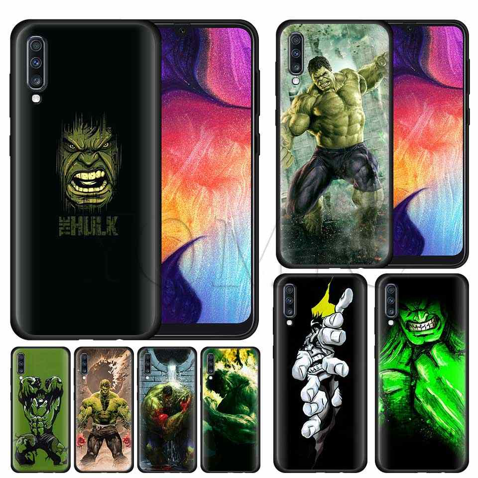 Incredible Hulk miękki futerał silikonowy do Samsung Galaxy A50 A40 A70 A30 A20 A80 A6 A7 A8 Plus A9 2018 czarny etui Coque