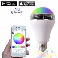 Smart LED Bulb Bluetooth Speaker LED RGB Light E27 Base Wireless Music Player With APP Remote