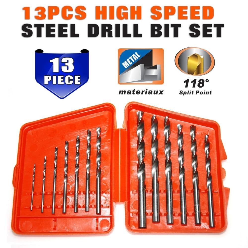 13pcs/lot HSS High Speed Steel Cobalt Drill Bit Set 1.5-6.5mm Twist Drills For Thick Iron And Aluminum 3% Co  цены