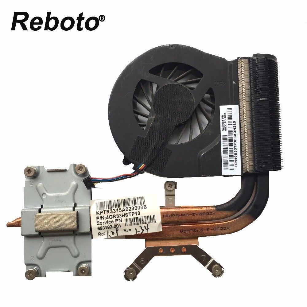 Reboto Laptop Cooling Fan For HP G4-2000 G6-2000 G7-2000 TPN-Q109 TPN-Q110 Heatsink Radiator Fan 683192-001 683193-001
