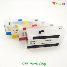 vilaxh 955 Refillable Ink Cartridge With ARC Chip Replacement For HP Officejet Pro 8216 8710 8720 8210 8702 8218 8715 8716