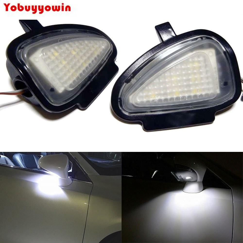 2Pcs Canbus System No Error Xenon White 18-SMD LED Under Side Mirror Puddle Lights For Volkswagen MK6 6 MKVI GTi Golf brown s smith d active listening second edition student s book 2 cd