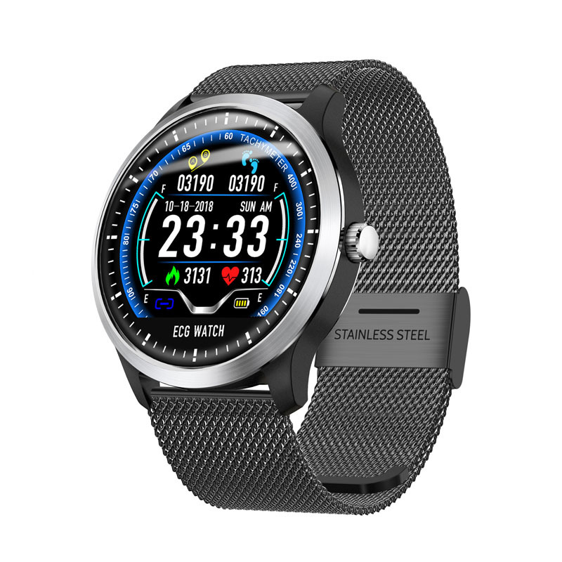 N58 2019 Nova banda inteligente ECG PPG Homens IP67 À Prova D' Água Relógio Do Esporte da Frequência Cardíaca Relógio Inteligente Monitor de Pressão Arterial de fitness pulseira