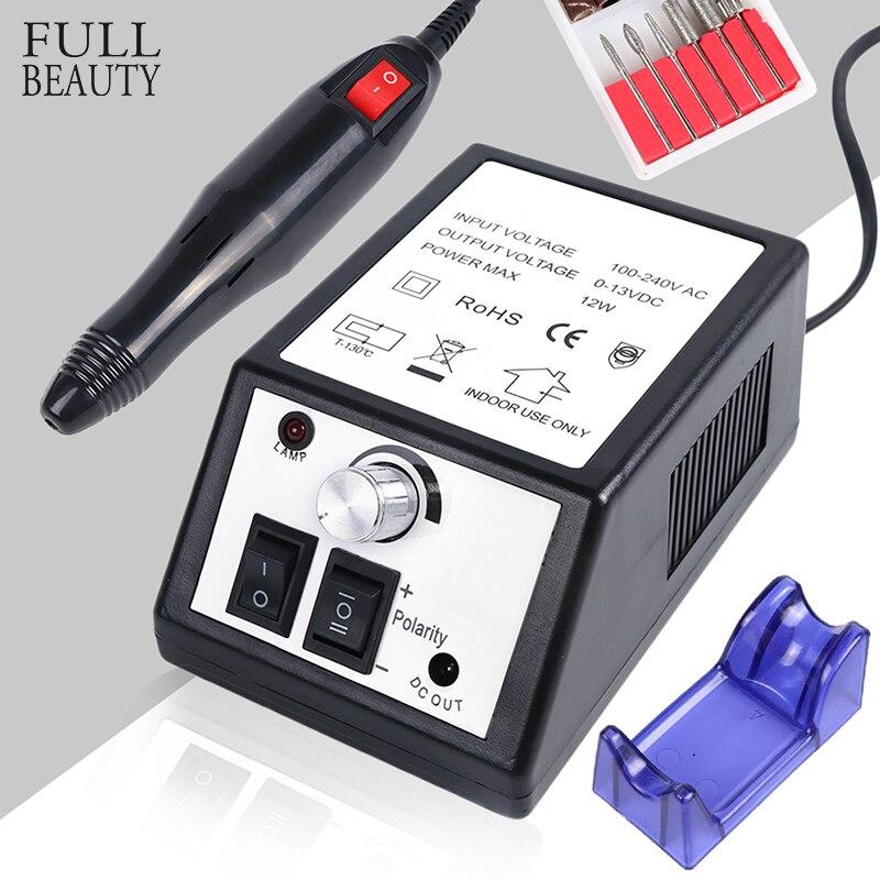 20000 rpm negro molienda Cutter para manicura máquina eléctrica uñas conjuntos broca de diamante archivos accesorios para Gel polaco CH885