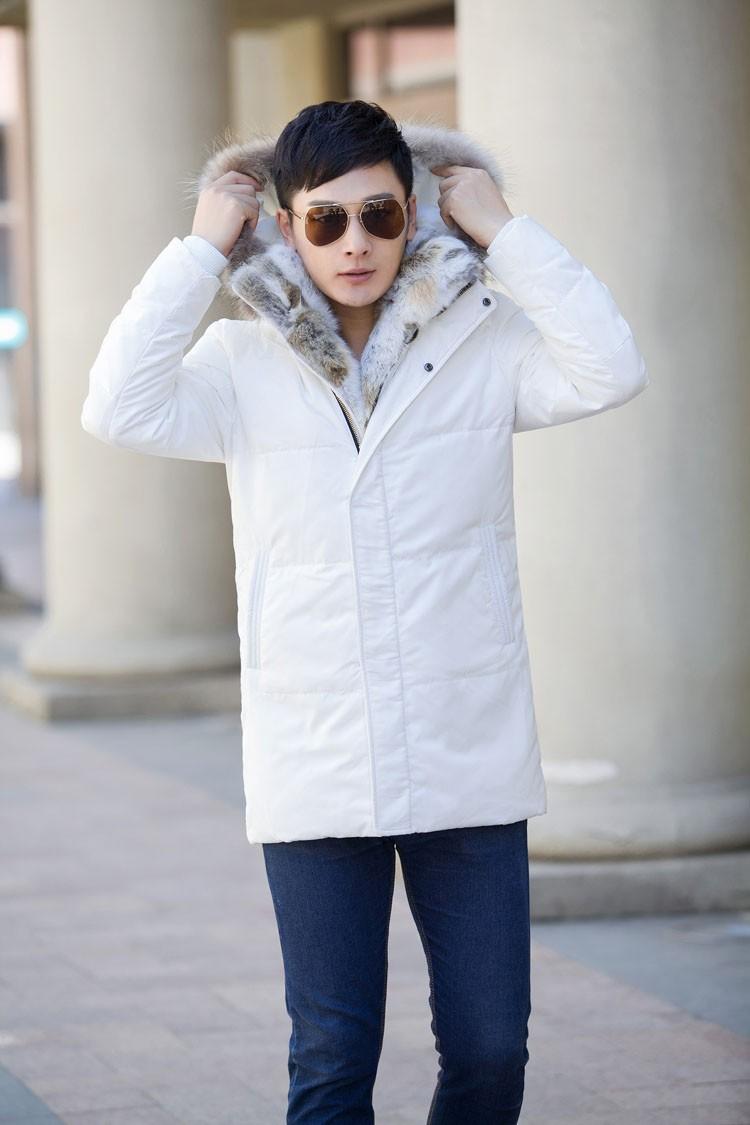 Winter Down Jacket Men Fur Parka Fashion Casual Thicken Warm Fur collar Hooded Men Women jacket&coat couple Down Jacket S-5XL (31)