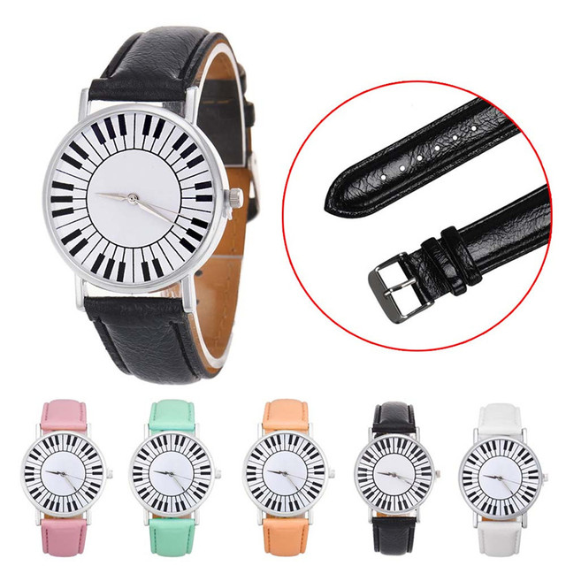 Womens Quartz Watch 1 PC Fresh Piano Keyboard Pattern Analog Wrist Watch Students Vogue Female Watch Brands Wholesale 40M20