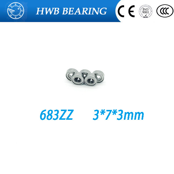 10pcs/lot Free Shipping  683ZZ 683 zz Bearings 3x7x3 mm Miniature Ball Bearings 683 Z L-730ZZ  free shipping 10 pcs 684zz 684z 684 bearings 4x9x4 mm miniature ball bearings l 940zz abec5