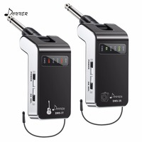 Donner Guitar Wireless System Transmitter & Receiver 60M Transmission Range Built in Battery Rechargeable For Bass Audio DWS 3