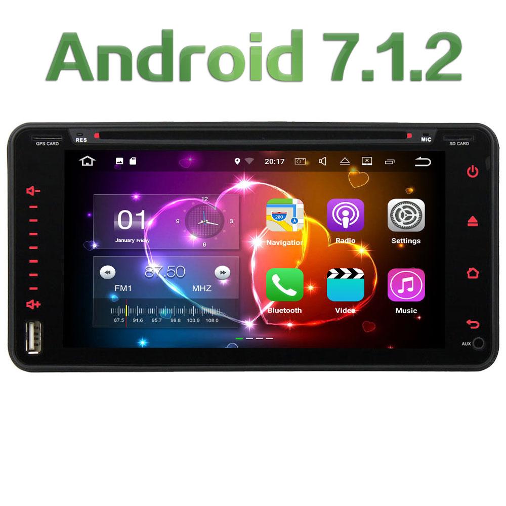 Android 7.1.2 Quad Core 2GB RAM Car DVD Player Radio Stereo for Toyota Camry Corolla EX Hilux Echo Vitz Rav4 Vios Avanza Terios