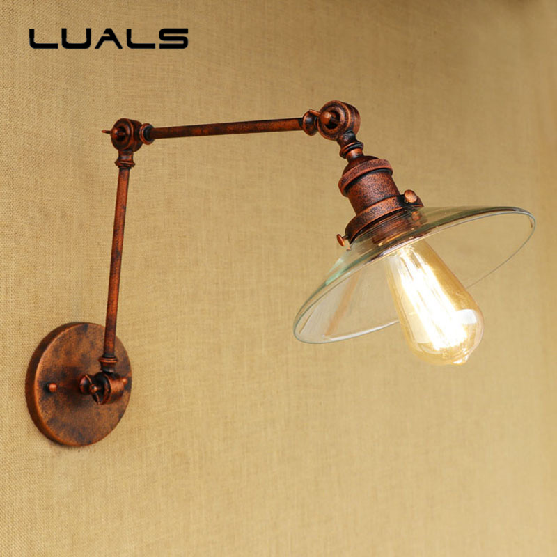 Loft Retro Wall Light Personality Rusty Color Wall Lamp Cafe Bar Creative Industrial Wall Lights Restaurant Art Deco Lighting 2 pcs loft retro light rusty color hanging lamp cafe bar pendant lights creative edison lamps industrial style pendant lighting