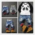 Niños rotos agujero pantalones pantalones 2016 muchachas de los bebés Jeans marca moda otoño 1-6Yrs niños pantalones ropa de niños