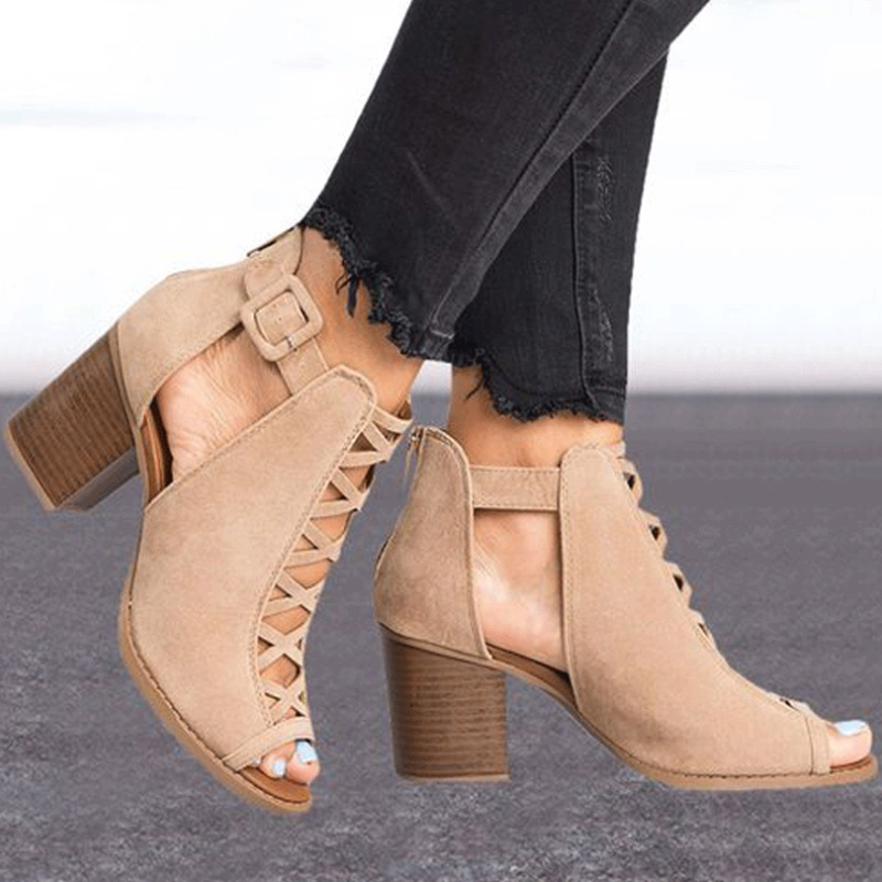f192fea5eb5 VTOTA Summer Sandals Women 2019 New Block Heels High Heels Sandals Luxury Shoes  Women Designers Peep Toe Sandalia Feminina K79-in High Heels from Shoes on  ...