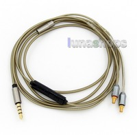 LN005690 Silver Plated Mic Remote Cable For Audio tech CKS1100 ATH LS70 ATH LS50 ATH E40 ATH E50 ATH E70