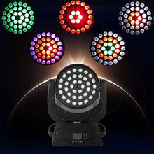 36X12 W RGBW 4IN1/36X15 W Rgbwa 5IN1/36X18 W Rgbwauv 6IN1 LED Zoom Moving Head Mencuci Ringan DMX512 Lampu LED Moving Head Cuci Efek Lampu(China)